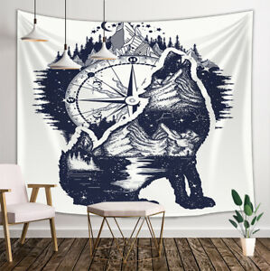 Image Is Loading Abstract Wolf Tapestry Wall Hanging Decor For Bedroom