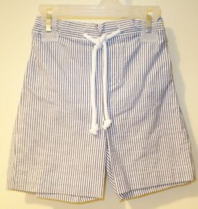 Boys SEERSUCKER SHORTS Tan Brown Stripe 12 18 M Months  2T 3T 4T 5T  Lined NEW