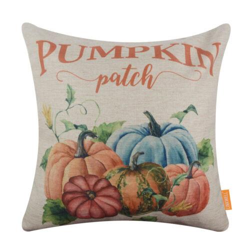 Farmhouse Thanksgiving Cushion Cover Happy Fall Harvest Autumn Throw Pillow Case