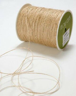 MayArts Luxury Natural Jute Hessian Burlap Thread String Yarn Hemp Butcher Twine