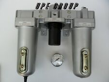 1 Combo Air Line Particulate Filter Moisture Trap Lubricator Regulator