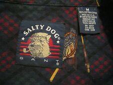 Vtg 80s 90s GANT Salty Dog Weathered Poplin Mens Shirt,Medium,Fly Fishing USA