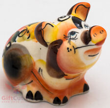 Porcelain gzhel Pigs Piglet Oak Tree figurine handmade Symbol of 2019 New Year