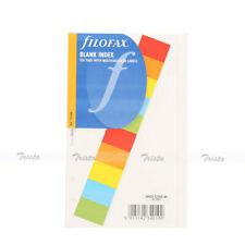 Filofax Book Personal Blank Index White With Multi Coloured Label Refill 131624