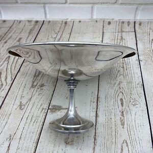 """Vintage MCM Oneida Silver plaque CANDY Dish Bowl compote 7.5"""" Piédestal classique"""