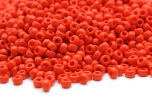 Miyuki Round Rocailles 15//0 Opaque Bright Orange Seed Beads RR-405