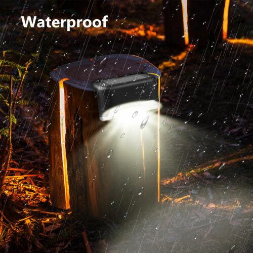 4X Solar LED Bright Deck Lights Outdoor Garden Patio Railing Decks Path Ligh @pa