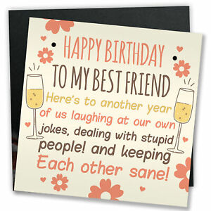 Details About Funny Best Friend Birthday Card Friendship Gifts Sign Birthday Gifts For Her
