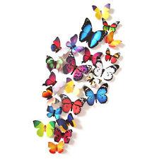24Stk. 3D PVC Schmetterling Wandtattoo Wandsticker Wandaufklebe Bunt Deko