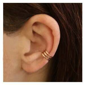 925 Sterling Silver Rose Gold Ear Cuff