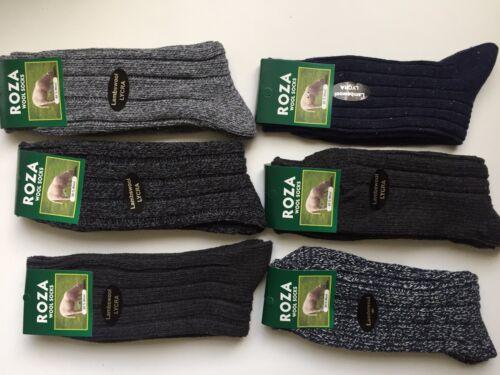 6 pairs MENS LONG WOOL BLEND THERMAL SOCKS TICK WALKING HIKING SKI BOOT PHWSD