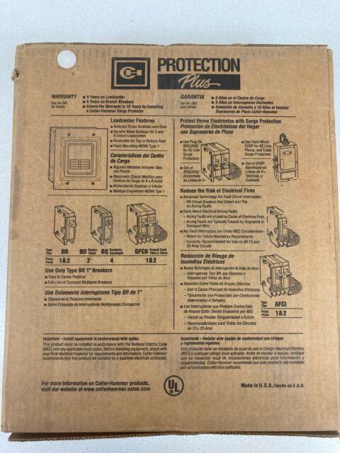 Eaton Corporation BR48L125FP Main Lugs Load Center 125-amp for sale online
