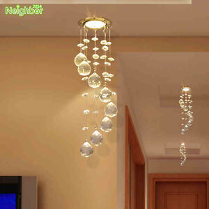 Crystal LED Ceiling Lamp Small Chandelier Hallway Porch Pendant ...