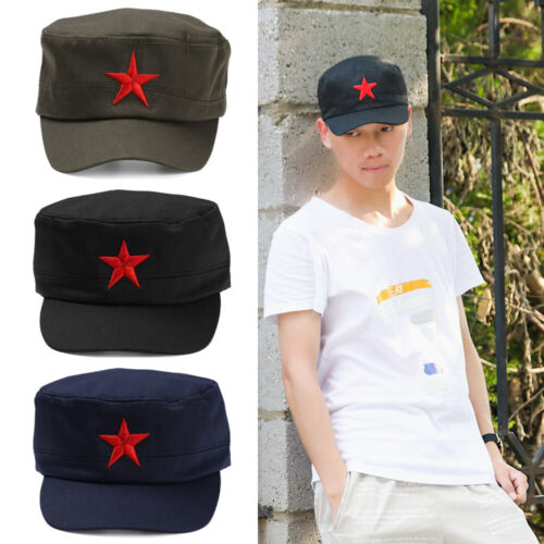 CLASSIC Army Russian Red Star Hat Cap Fancy Dress Cadet MILITARY SOLDIER HAT