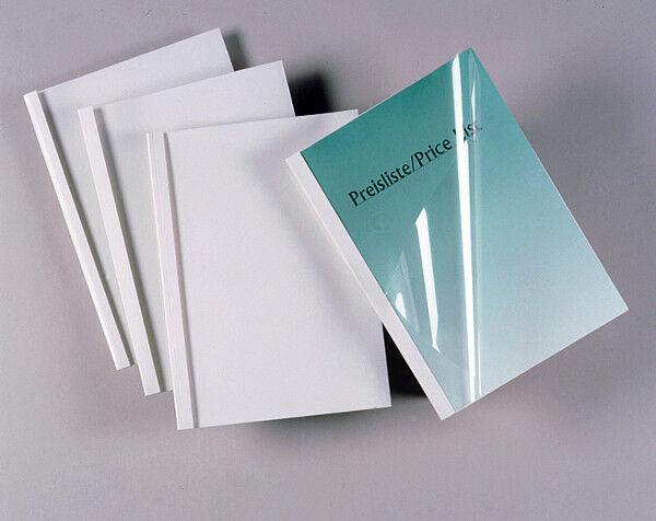 GBC Pochette Reliure Thermique Standard, Blanc, 4,0mm, Din A4, 100er Pack