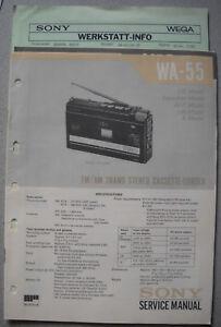 SONY-WA-55-Service-Manual-inkl-MDR-1L1-und-Service-Info