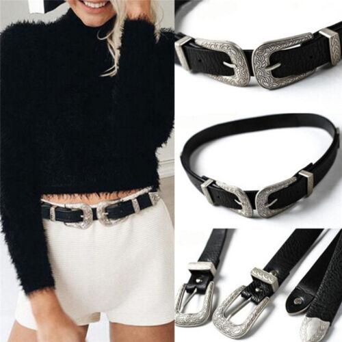 Metal Pin Buckle Women Belts Vintage Strap Design Leather For Woman Belt  gv