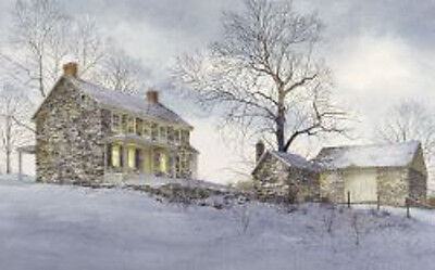 Ray Hendershot Evening Quiet Country Winter Tree Landscape Print Poster 19x13