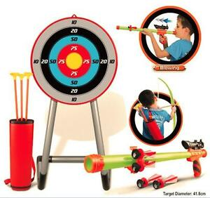 ARCHERY-TARGET-SET-BOW-amp-ARROWS-BLOW-PIPE-amp-DARTS-OUTDOOR-FUN-GARDEN-PARTY-GAME