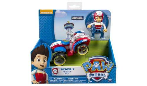 PAW Patrol Ryder/'s Rescue ATV Pup /& véhicule avec Real Working Wheels New /_ UK