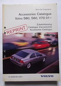 Details about Genuine Volvo S60,S80 & V70 Accessories Catalogue Book