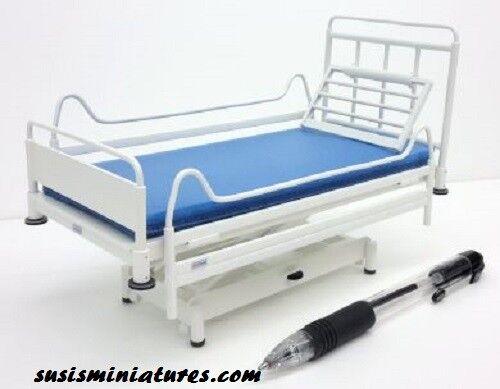 1 12 scale scale scale  dolls house miniature handmade hospital bed & furniture 5 items. 838b3b