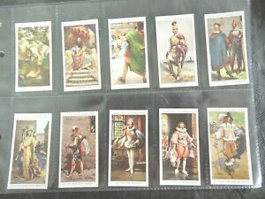 1932-Dandies-antique-costumes-clothing-Complete-Players-Tobacco-Card-Set-of-50
