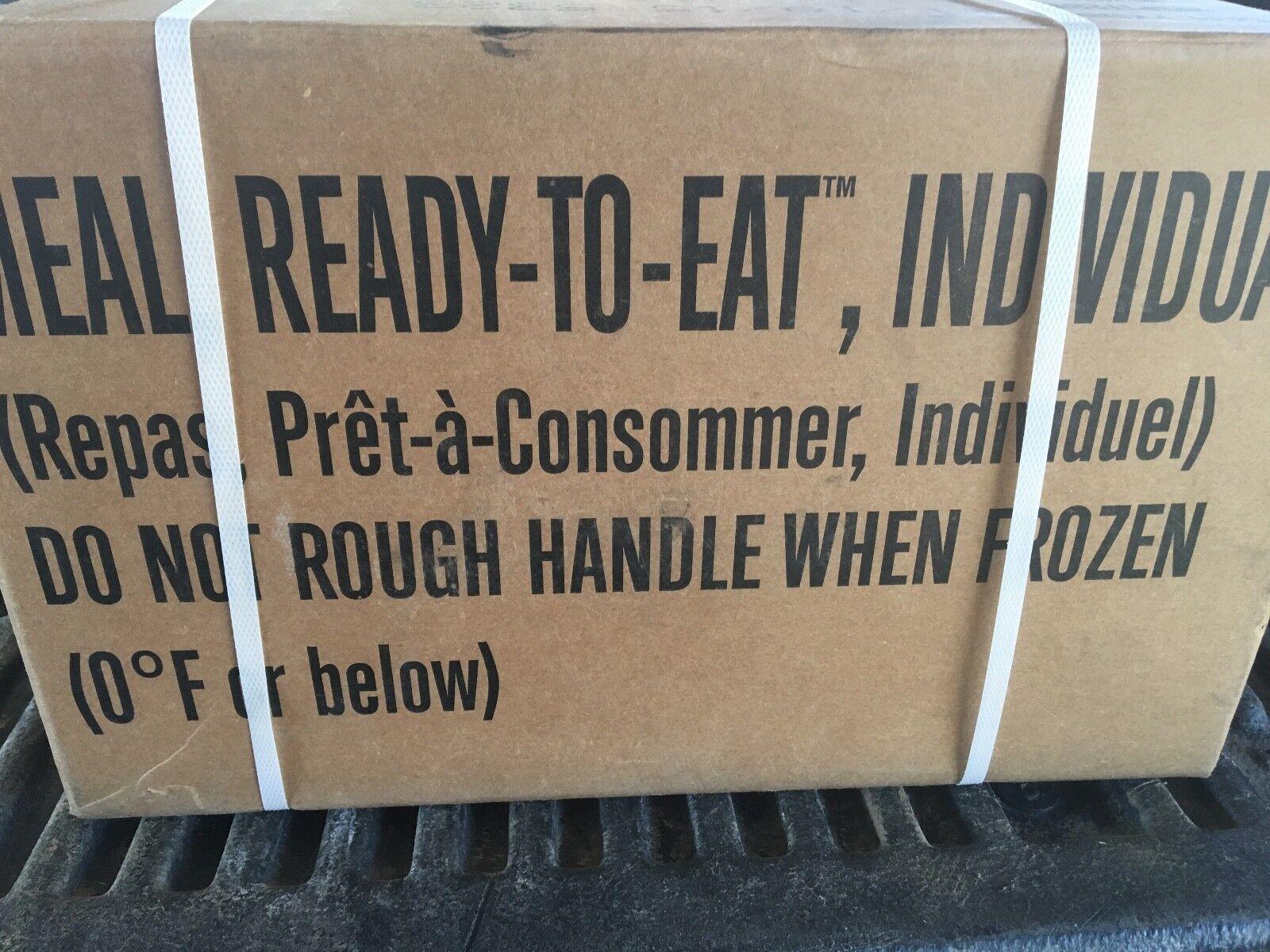Comida lista para comer meal, listo para comer caso a 12 comidas nuevo 2019 inspecciones