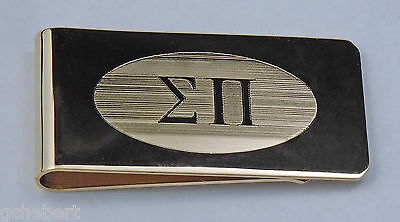 Sigma Pi, ΣΠ, Greek Letter Brass Money Clip By McCartney