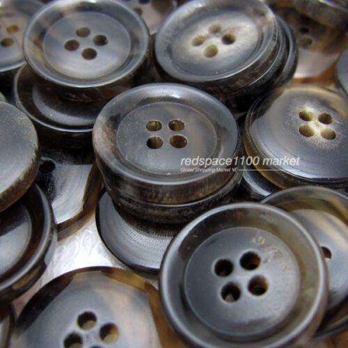 12pcs Brown/_t4 Luxury Real buffalo horn button 4H 20mm