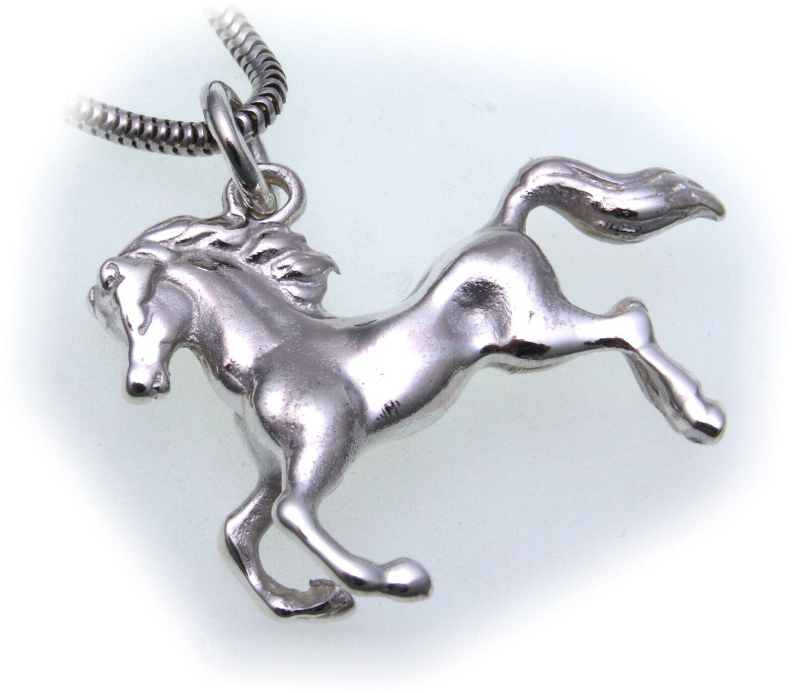 Pferd echt silver 925 Anhänger plastisch 3D schwere Qualität  Sterlingsilver Uni