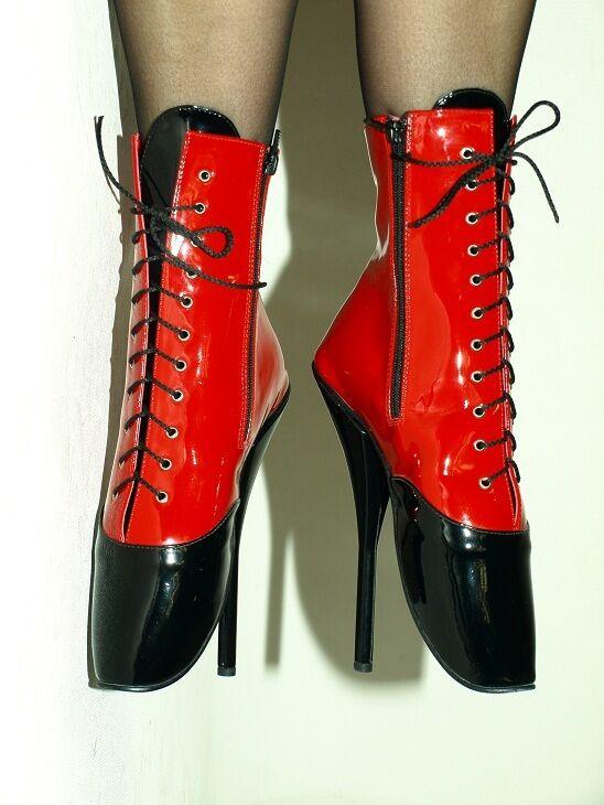 High heels, ballet  latex gummi   producer POLAND  -heels 21cm-grobe 37-47