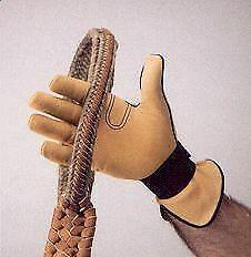 Men/'s Cowhide Rodeo Horse Riding Glove 101590P