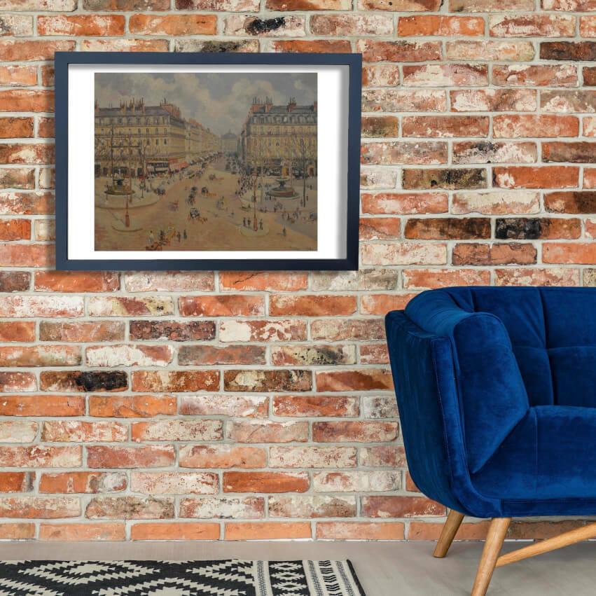 Camille Pissarro - Morning Sunshine Wand Kunst Poster Drucken
