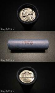 1956 p mint  Jefferson Nickels  BU UNCIRCULATED roll  of 40 coins OBW