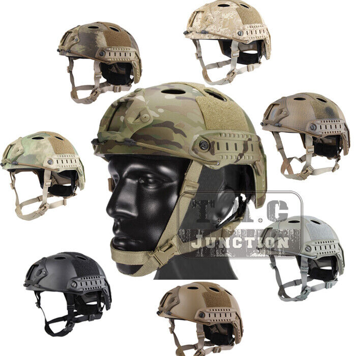 Emerson Tactical Fast  Helmet PJ Type Advanced Adjustment w NVG Shroud+Side Rail  online discount