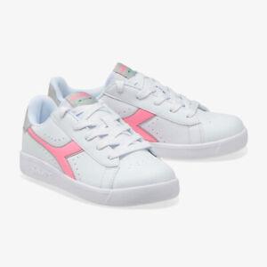 Zapatos Mujer Diadora Game P GS Suela Blanco Logo Rosa Casual Cordones