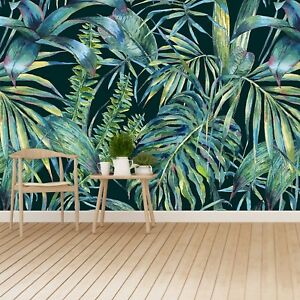 Non-woven-Wall-Mural-Photo-Wallpaper-Poster-Picture-Image-Jungle-leaves