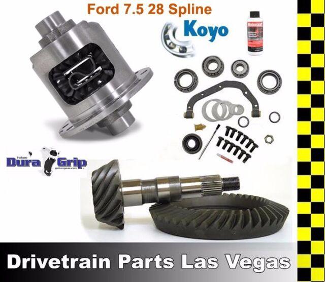 Yukon DuraGrip Ford 7.5 28 Spline Posi Limited Slip Pkg Gear Set 3.45 Master Kit