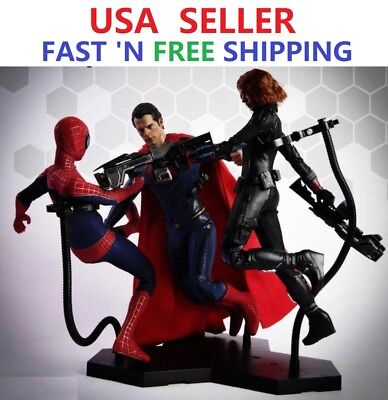 Dynamic Stand For 1//6 Scale Action Figure Hot Toys Phicen Display SHIP FROM USA
