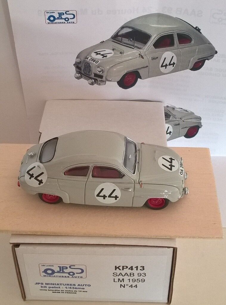 1 43 SAAb Ty.93 Le Mans '59  44 Model Built home made by KIT JPS