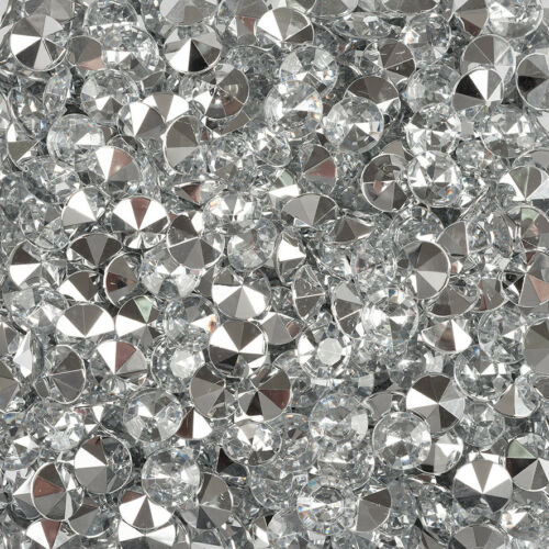 130 Stück Dekosteine klar Diamanten 10mm Spiegel Diamanten Dekodiamanten