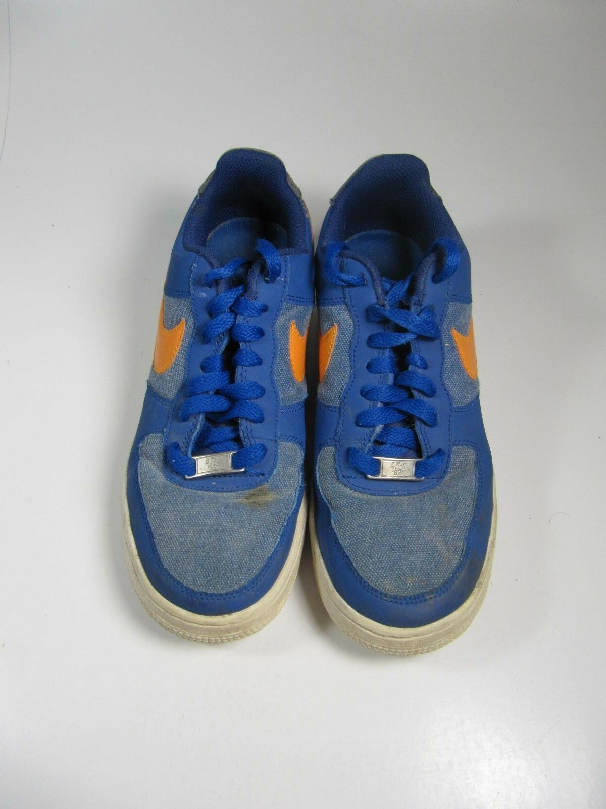 nike nike nike air force garçons chaussures 5.5y bleu orange baskets | Grand Assortiment  1c6052