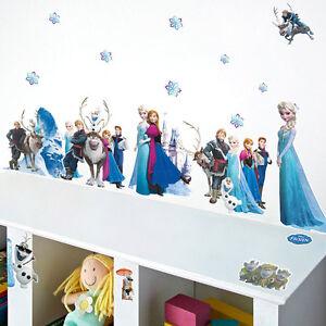 Sticker-Mural-Art-Princesse-Elsa-Anna-Olaf-Chambre-Jeune-Fille-Feuille-amovible