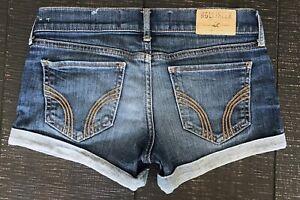 Hollister-Low-Rise-Denim-Blue-Jean-shorts-size-0-24