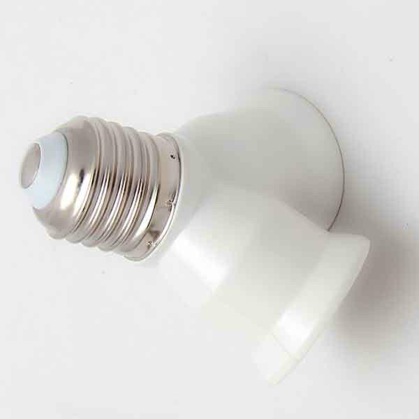 E27 Base Light Lamp Bulb 2 Socket E27 Lamp Base Splitter Adapter