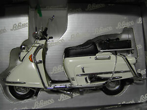 moto heinkel roller polizei 103 a 2 blanc au 1 10 schuco 06539 voiture miniature ebay. Black Bedroom Furniture Sets. Home Design Ideas