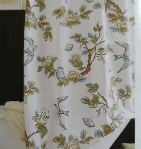 Delightful ... Target Threshold Botanical Blue Bird Shower Curtain NEW