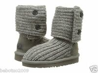Kids Girls Women Ugg Australia Knit Boot Classic Cardy Grey Gray 5649 K Org