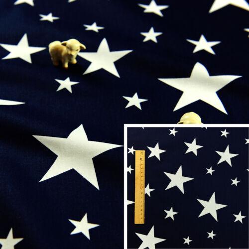 160cm BLUE NAVY Square//Meter 100/% Cotton Fabric FQ Craft Quilt Sew Kids Boy Star